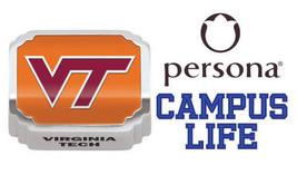 Persona Campus Plata de Ley Naranja Con Rojo VT Virginia Tech Europeo Charm Bead