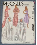 McCalls 6910 Wedding Dress Bride Bridesmaid Gow... - $5.75