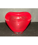 Crystal Vase Lead Ruby Red Heart Romanian Gorge... - $30.00