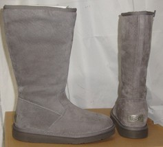UGG ALBER Gray Water Resistant Suede Fully Lined Boots Size US 5 NIB #1016592 - $108.89