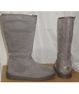 UGG ALBER Gray Water Resistant Suede Fully Lined Boots Size US 5 NIB #10... - $108.89