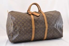 LOUIS VUITTON Monogram Keepall 60 Boston Bag M41422 LV Auth 6552 - $498.00