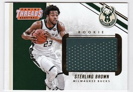 STERLING BROWN 2017-18 PANINI THREADS JUMBO PATCH CARD ROOKIE CARD #BTR-STB - $10.38