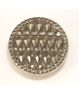 Single Gray Black Shank Button 7/8 Inch Wide - $5.75