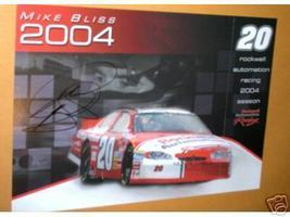 2004 MIKE BLISS #20 ROCKWELL NASCAR POSTCARD SIGNED - $10.75