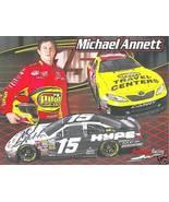 2009 MICHAEL ANNETT #15 PILOT TRAVEL CENTERS NASCAR POSTCARD SIGNED - $10.75