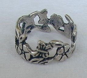 Primary image for Silver flower ring A