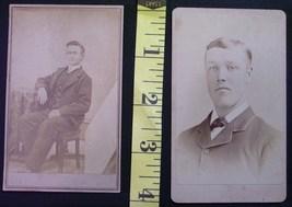 CDV Carte De Viste Photo Lot (2) Young Men! c.1859-80 - $3.20