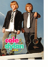 Cole Sprouse Dylan Sprouse teen magazine pinup clipping holding a guitar... - $3.50