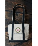 LL Bean Canvas Bag Boat and Tote Embroidered Official Kentucky Derby USA... - $28.68
