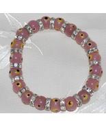 Light Pink Evil Eye Bead Bracelet - $12.95