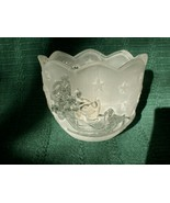 Mikasa Holiday Classics Santa Votive Frosted Candle Holder - New!  - $6.79
