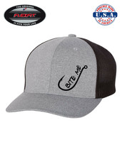 BITE ME FISH FISHING HOOK Trucker Cap FLEXFIT HAT *FREE SHIPPING in BOX* - $19.99