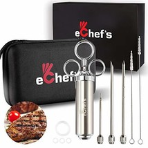 Meat Injector Kit with Case - 304 Stainless Steel Syringe - 3 Marinade I... - $33.70
