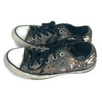 Converse All Star Sneakers Shoes Black Gold Sequins Bling Glitter Women'... - $17.72