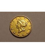 1849 - P Liberty Head Open Wreath $1 Gold  Piece (EF) - $301.92 CAD
