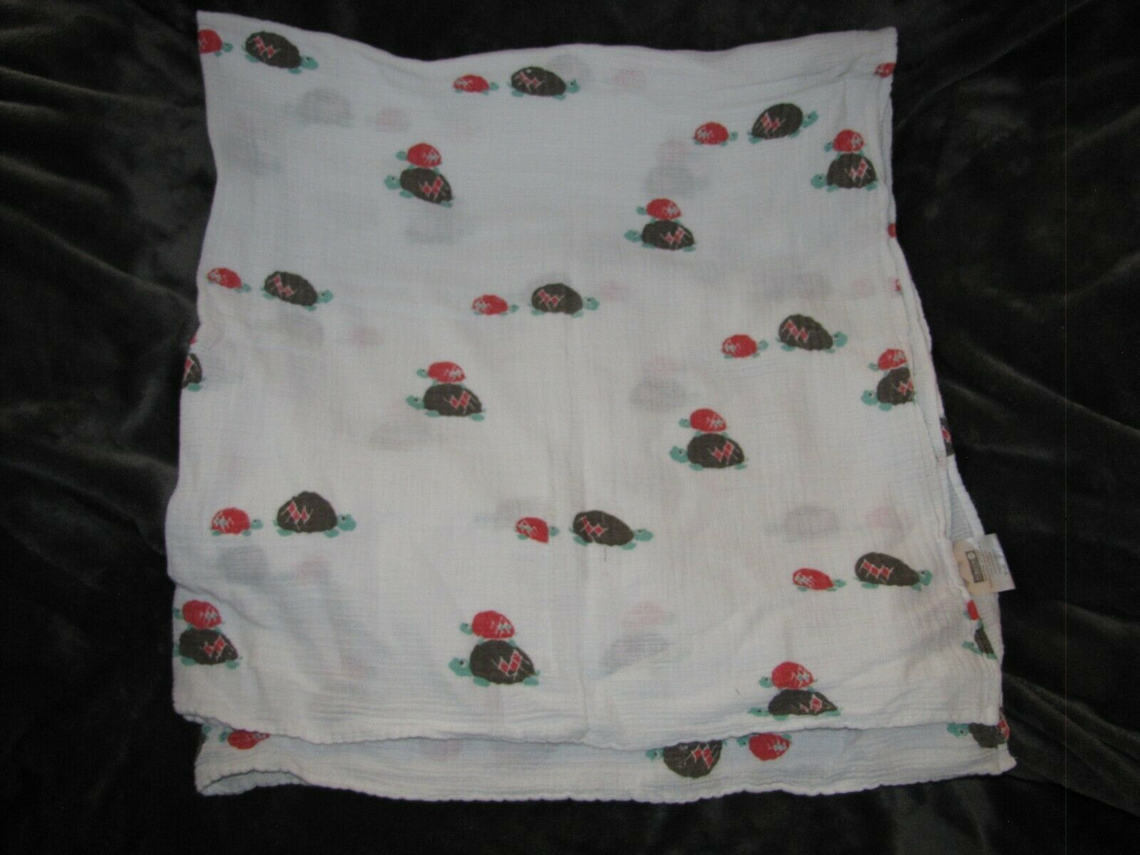 Primary image for Aden + Anais Pinzon Amazon Red Green Brown Turtle Cotton Muslin Baby Blanket