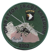 """5"""" ARMY 101ST AIRBORNE DIVISION 2003 EMBROIDERED PATCH - $17.14"""