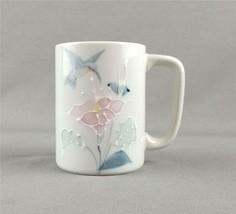 Otagiri Hummingbird, Bird & Flowers Hand Painted Stoneware Coffee Mug / Tea Cup - $9.85