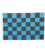 SMF Small 12 Inch X 20 Inch Replacement Blue And Black Checkered Flag Fo... - $19.95