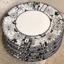(4) Ciroa Wicked Halloween Gothic Spiderweb Dinner Plates ~NEW ~ - $59.99 & 4) Ciroa Luxe Silver Stripes Edge Metallic and 50 similar items