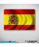 Spain Flag Sticker Decal 4x6- Spanish ES. - $3.59