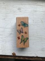Six Butterflies Wood Mounted Rubber Stamp Stampcraft 440D31 - $5.00
