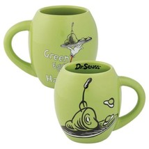 Dr. Seuss Green Eggs & Ham Illustrated 18 ounce Oval Ceramic Mug, NEW UN... - $12.55