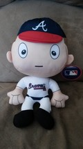 "ATLANTA BRAVES BIG HEAD PLUSH PLAYER New 2016 MLB Licensed 12"" RALLYMEN - $11.99"