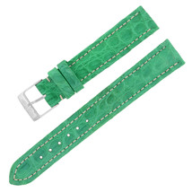 Breitling 15-14mm Alligator Leather Green Ladies Watch Band w. Buckle - $299.00