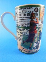 "Golf Dunoon Stoneware Made in Scotland Mug 4.25"" Excellent - $9.89"