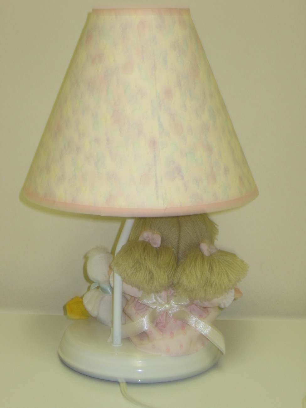 Precious moments nursery night light lamp girl duck for Girl nursery lighting