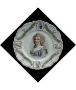 Prov Sxe E.S. Germany Napoleon Hortense Portrait Plate - $24.50