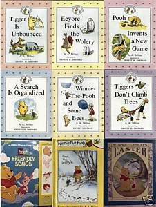 (8) WINNIE THE POOH BOOKS+(1) PLAY-A-SONG FRIENDLY SONGS