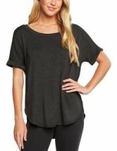 NEW Matty M Ladies' Short Sleeve Comfy Shirt Charcoal