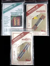 3 Southwestern Counted Cross Stitch KITs Bookmarks Ornament Geometric  - $12.38