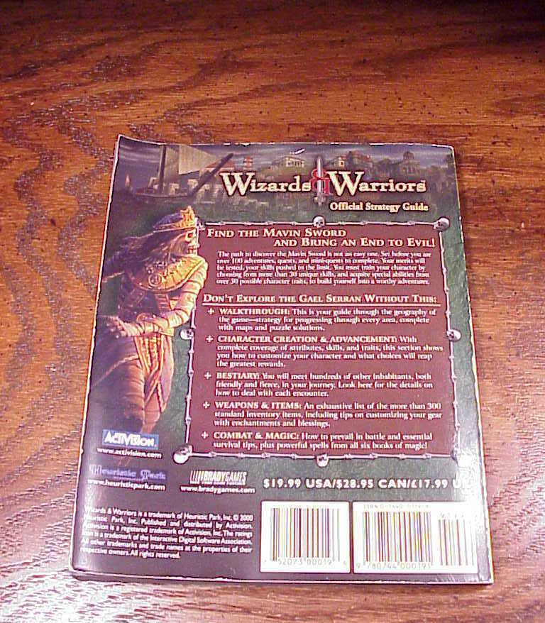 Wizards and Warriors PC Game Official Strategy Guide Book