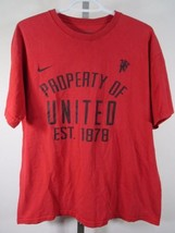 Nike Manchester United T-Shirt Größe Mittelgroß M Rot Fußball Fußball C60 - $29.14