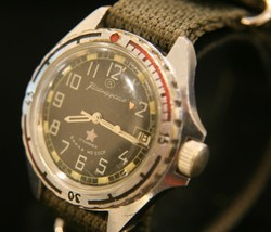 Rare vintage Soviet Vostok military commander 17 jewel military steel wr... - $89.10