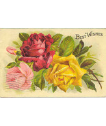 Best Wishes 1910 Vintage Post Card - $3.00