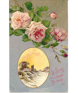 Wishing You A Happy Birthday 1908 Post Card - $3.00