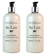 Scottish Fine Soaps Au Lait Liquid Hand Wash - 500ml/17.5 oz 2-Pack - $31.05
