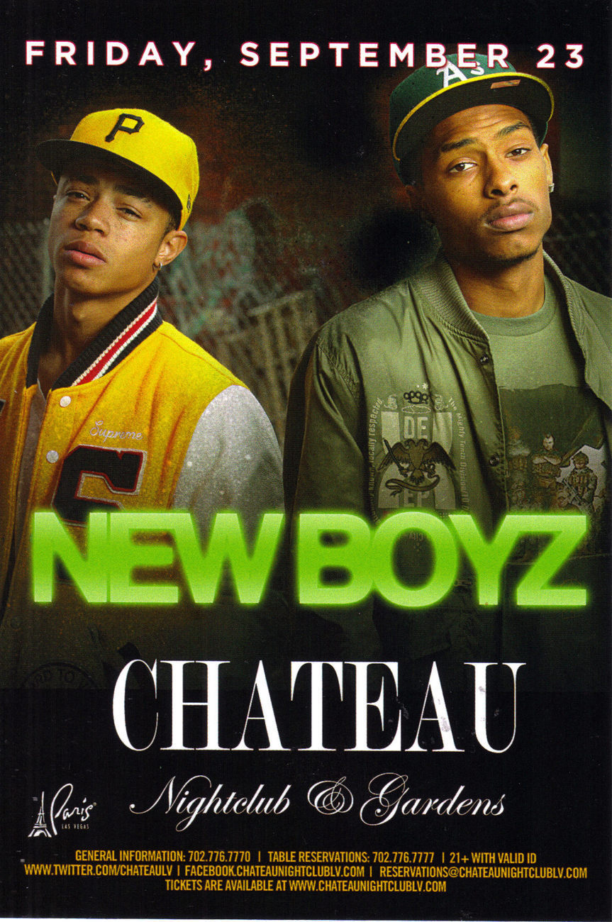 NEW BOYZ @ CHATEAU Nightclub Las Vegas Promo Card