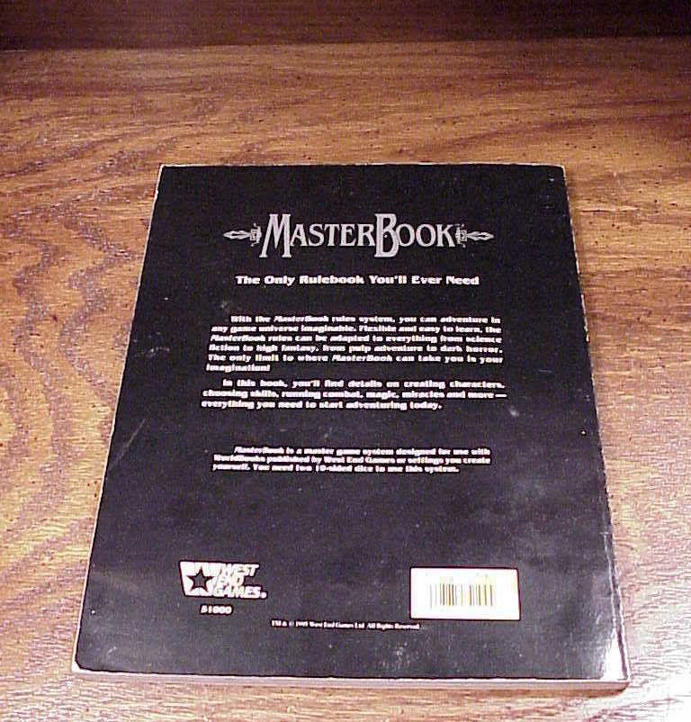Master Book Roleplaying Rules for West End Games, no. 51000
