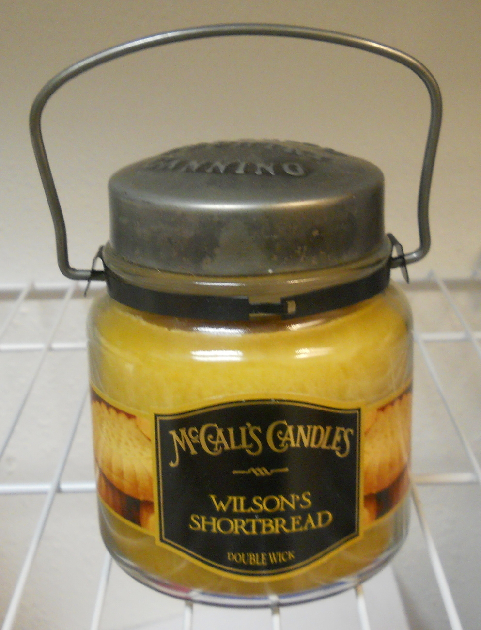 McCalls New Double Wick Classic Wilsons Shortbread Jar Candle 16 oz