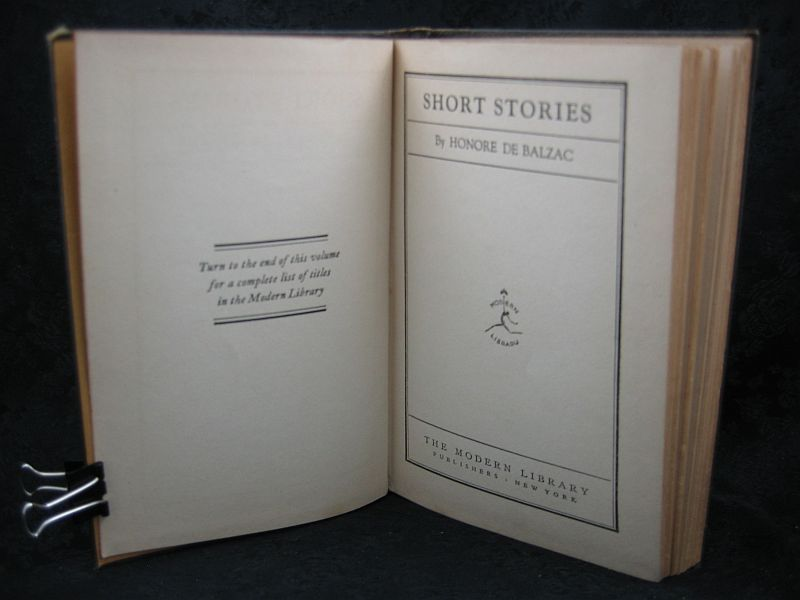 Short Stories by Honore De Balzac The Modern Library