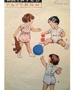 Advance 7813 Vintage 40s Baby 2 pc Romper sz 2 Pattern - $9.95