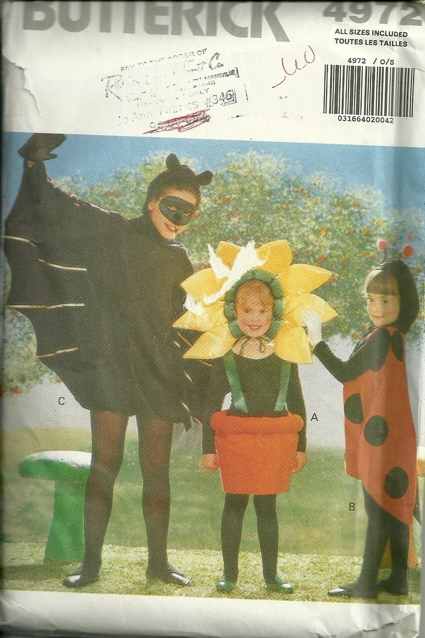 Primary image for BUTTERICK COSTUMES # 4972 SIZES S-M-L-XL