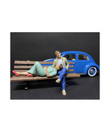 Sitting Lovers 2 piece Figurine Set for 1/24 Scale Models by American Di... - $34.39