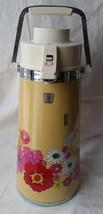 1970's Retro King Thermos Air Pot Pump Liquid Dispenser Flower Florial Original